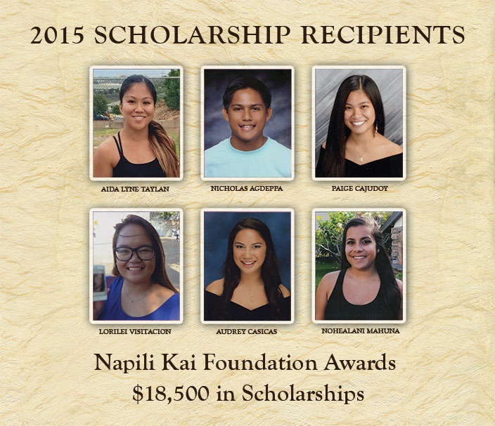 Napili Kai Foundation Scholarship Program